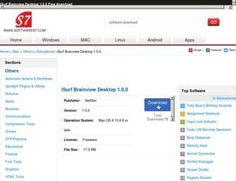 isurf-brainview-desktop-free-download-for-mac.softwares7.com screenshot
