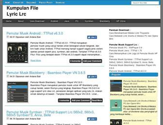 gratislyriclrc.blogspot.com screenshot