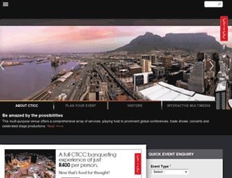 Main page screenshot of cticc.co.za