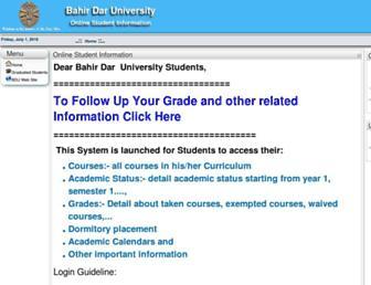 studentinfo.bdu.edu.et screenshot