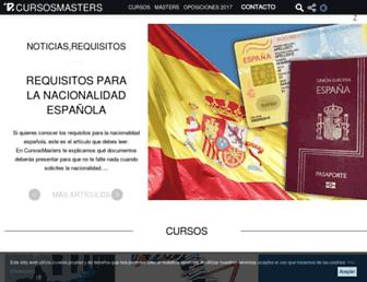 cursosmasters.com screenshot