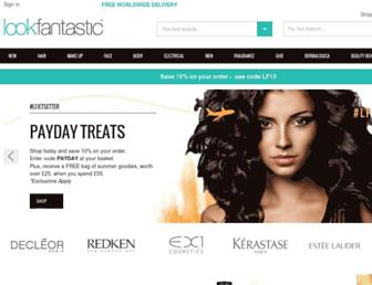 lookfantastic.com screenshot