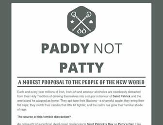 Thumbshot of Paddynotpatty.com