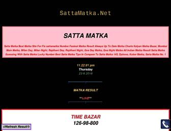 sattamatka.net screenshot