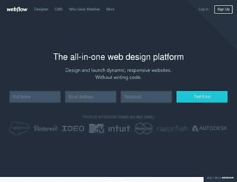 webflow.com screenshot