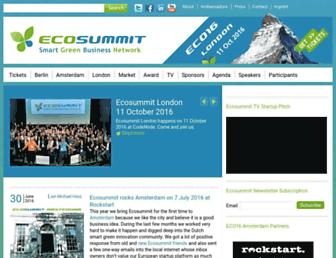 ecosummit.net screenshot