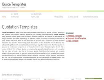quotetemplates.org screenshot