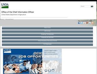 ocio.usda.gov screenshot