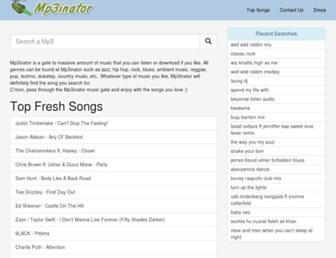 mp3inator.com screenshot