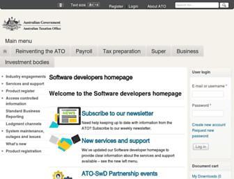 softwaredevelopers.ato.gov.au screenshot
