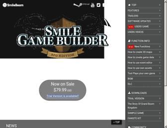 smilegamebuilder.com screenshot