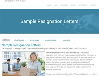 sample-resignation-letters.com screenshot