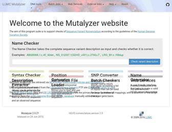 mutalyzer.nl screenshot