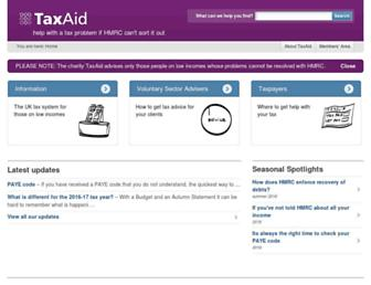 taxaid.org.uk screenshot