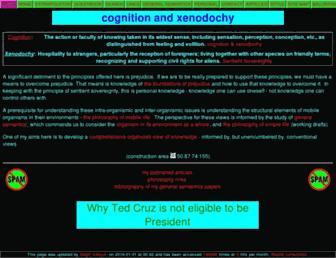 Main page screenshot of xenodochy.org