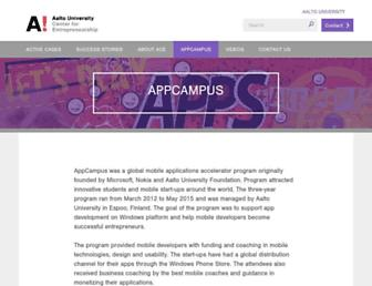 Thumbshot of Appcampus.fi