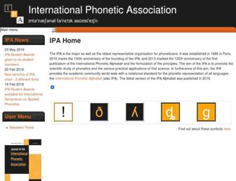 internationalphoneticassociation.org screenshot