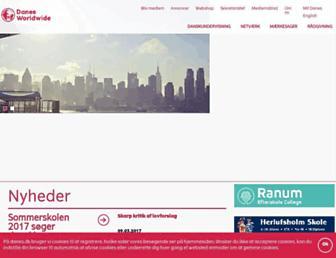 Main page screenshot of danes.dk