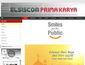 elsiscom.co.id screenshot