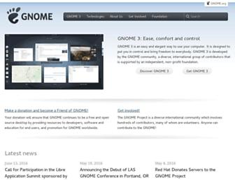 Thumbshot of Gnome.org