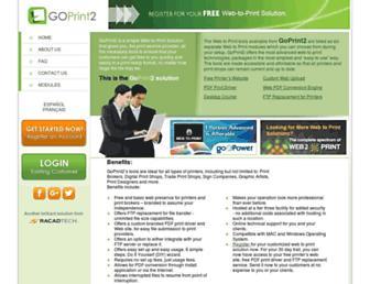 goprint2.com screenshot