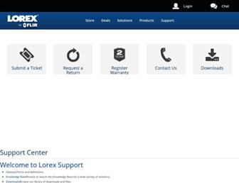 help.lorextechnology.com screenshot