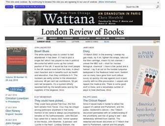 Main page screenshot of lrb.co.uk