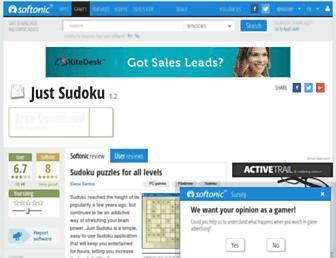 just-sudoku.en.softonic.com screenshot