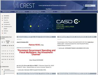 Main page screenshot of crest.fr