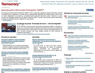 Main page screenshot of e-democracy.md