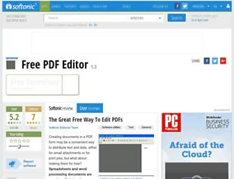 free-pdf-editor.en.softonic.com screenshot