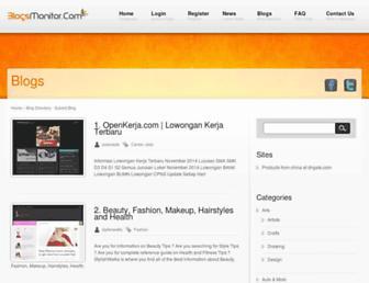 blogsmonitor.com screenshot