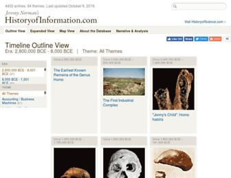 historyofinformation.com screenshot