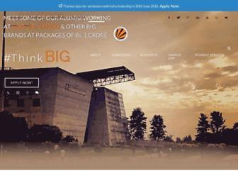 Main page screenshot of lpu.in