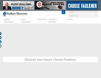 Main page screenshot of faulkner.edu