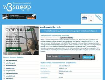 mail.newindia.co.in.w3snoop.com screenshot