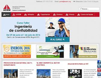 aciem.org screenshot