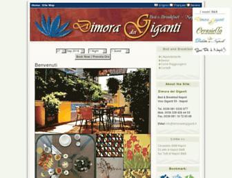 Main page screenshot of dimoradeigiganti.it