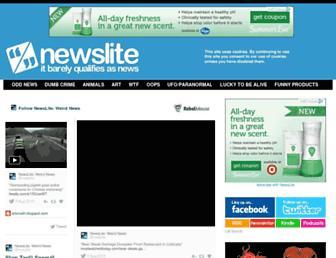 Main page screenshot of newslite.tv