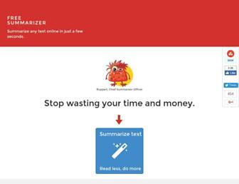 freesummarizer.com screenshot
