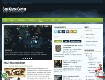 soulgamecenter.blogspot.com screenshot