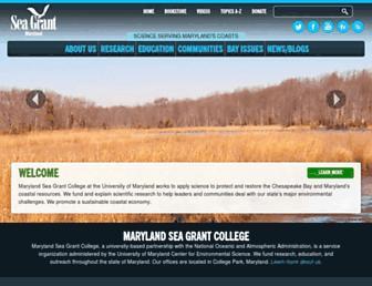 Main page screenshot of mdsg.umd.edu