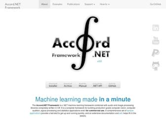 accord-framework.net screenshot