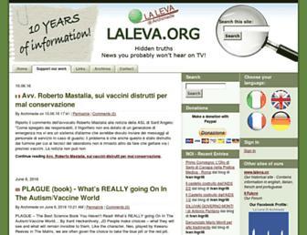 Main page screenshot of laleva.org