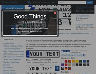 customeuropeanplates.com screenshot