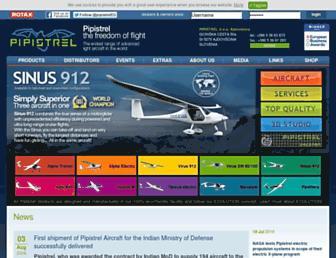 Main page screenshot of pipistrel.si