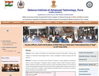 diat.ac.in screenshot