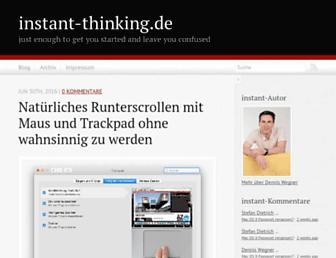 Main page screenshot of instant-thinking.de