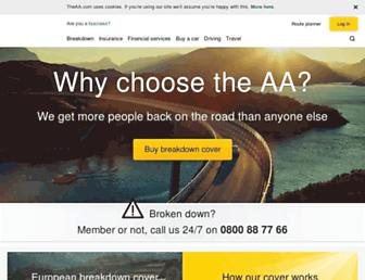 theaa.com screenshot