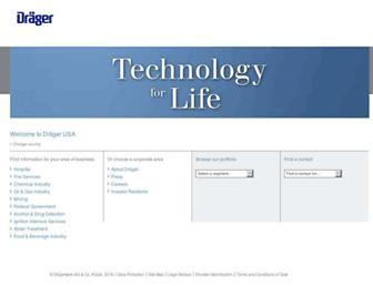 draeger.com screenshot